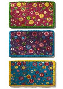 Doormat~ Bohemian Hippy Coconut Fibre Small Flowers Available in 3 Colours Doormat~ By Folio Gothic Hippy DM14